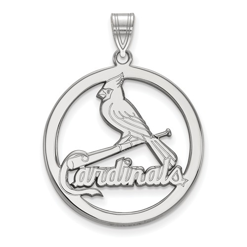 sterling silver 1in st louis cardinals round pendant ss032crd. Black Bedroom Furniture Sets. Home Design Ideas