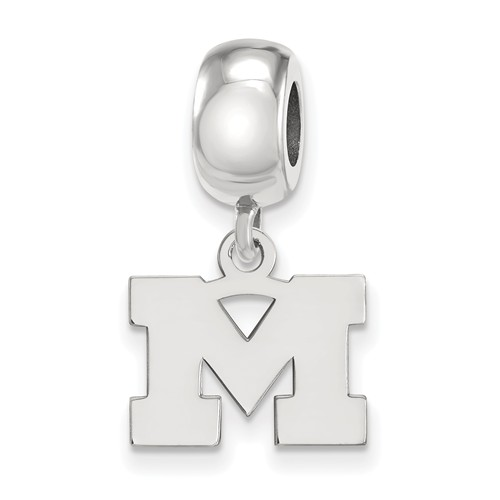 Sterling Silver University of Michigan M Extra Small Dangle Bead