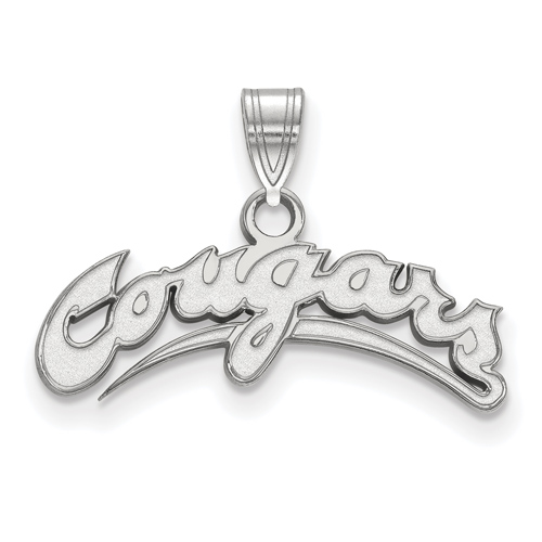Sterling Silver Small Washington State University Cougars Pendant