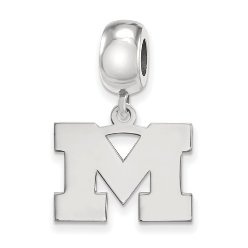 Sterling Silver University of Michigan M Dangle Bead Charm