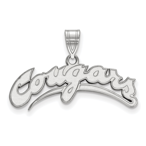 Sterling Silver Washington State University Cougars Arched Pendant