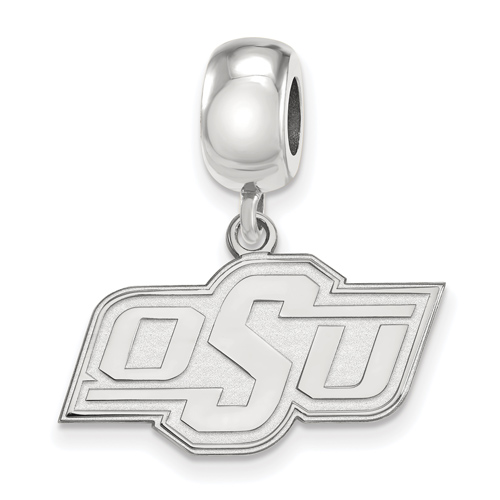 Sterling Silver Oklahoma State University OSU Dangle Bead Charm