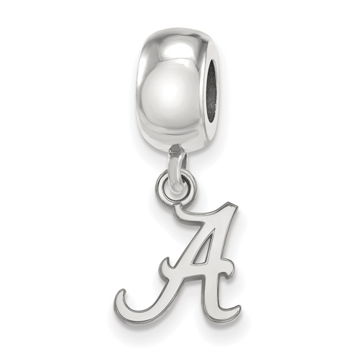 Sterling Silver University of Alabama A Extra Small Dangle Bead