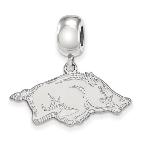 Sterling Silver University of Arkansas Dangle Bead