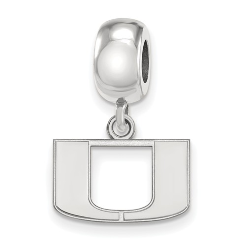 Sterling Silver University of Miami Extra Small Dangle Bead