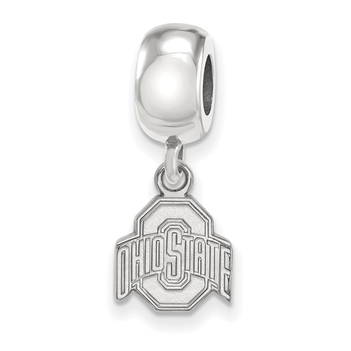 Sterling Silver Ohio State University Extra Small Dangle Bead