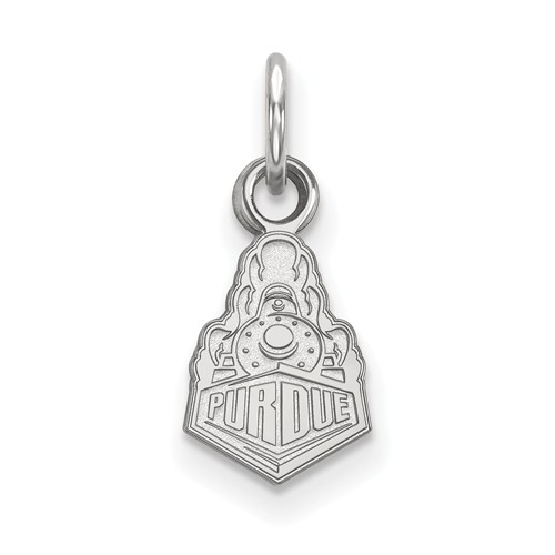 Sterling Silver Purdue University Boilermakers Charm 3/8in