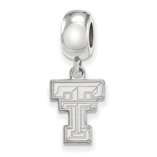 Sterling Silver Texas Tech University Dangle Bead Charm