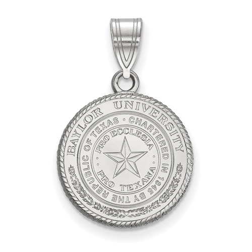 Sterling Silver 5/8in Baylor University Seal Pendant