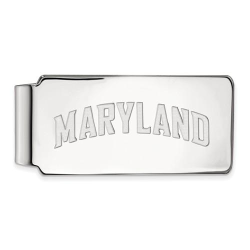 14k White Gold University of Maryland MARYLAND Money Clip