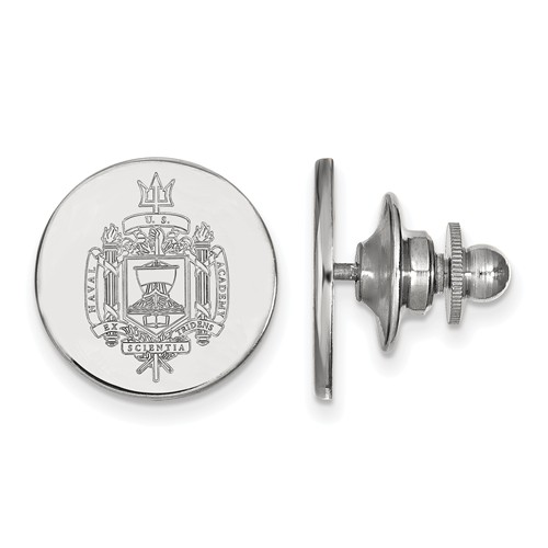 United States Naval Academy Seal Lapel Pin Sterling Silver