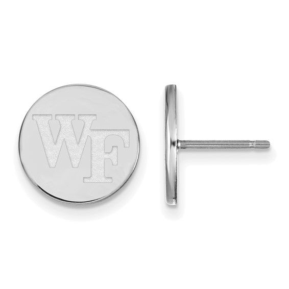 Wake Forest University Round Earrings Sterling Silver