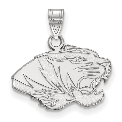 Sterling Silver 1/2in University of Missouri Tiger Pendant