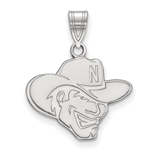 Sterling Silver 5/8in University of Nebraska Herbie Husker Pendant