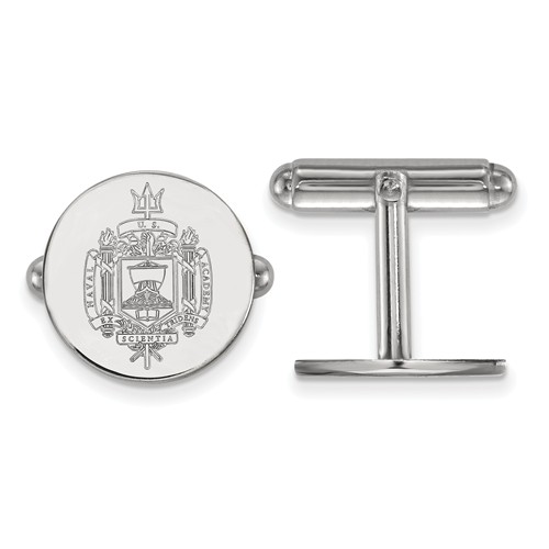 Sterling Silver United States Naval Academy Seal Cuff Links