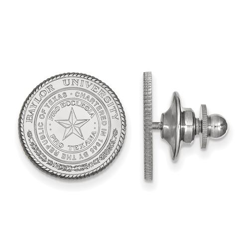 Sterling Silver Baylor University Seal Lapel Pin