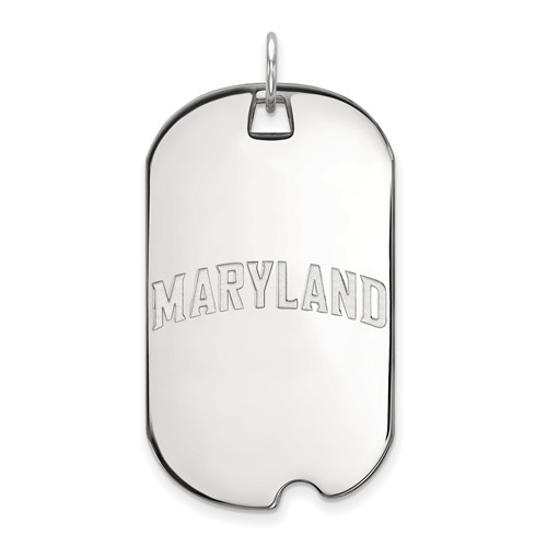 Sterling Silver MARYLAND Dog Tag