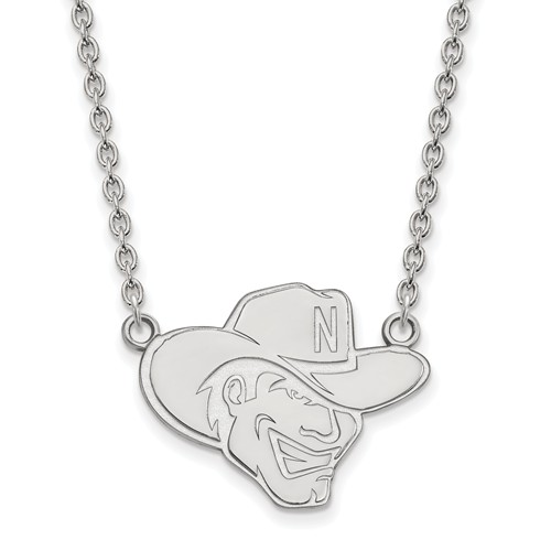 Sterling Silver University of Nebraska Herbie Husker Pendant with 18in Chain