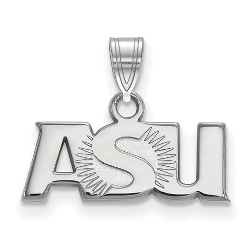 Arizona State University ASU Small Pendant Sterling Silver