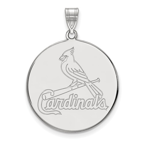 sterling silver 1in st louis cardinals pendant ss041crd. Black Bedroom Furniture Sets. Home Design Ideas