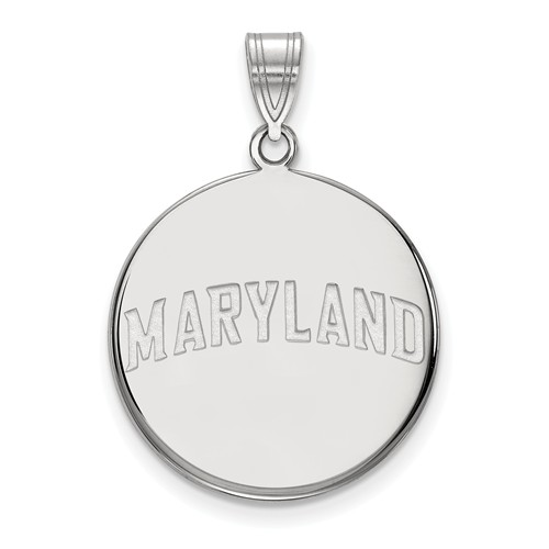 Sterling Silver 7/8in Round MARYLAND Pendant