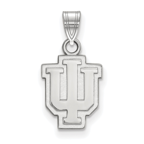 Sterling Silver 1/2in Indiana University Outline Pendant