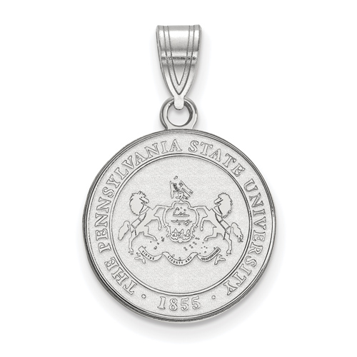 Sterling Silver 5/8in Penn State University Crest Pendant