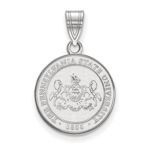 Sterling Silver 5/8in Penn State University Crest Pendant