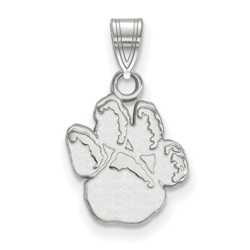 Sterling Silver 1/2in University of Pittsburgh Paw Pendant