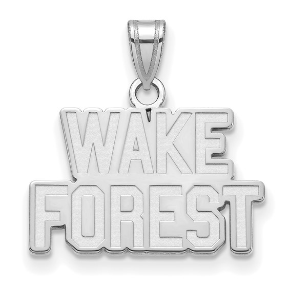 Wake Forest University Logo Charm 1/2in Sterling Silver