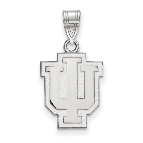 Sterling Silver 5/8in Indiana University Outline Logo Pendant