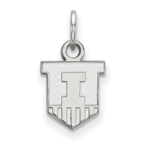 Sterling Silver 3/8in University of Illinois Victory Badge Pendant