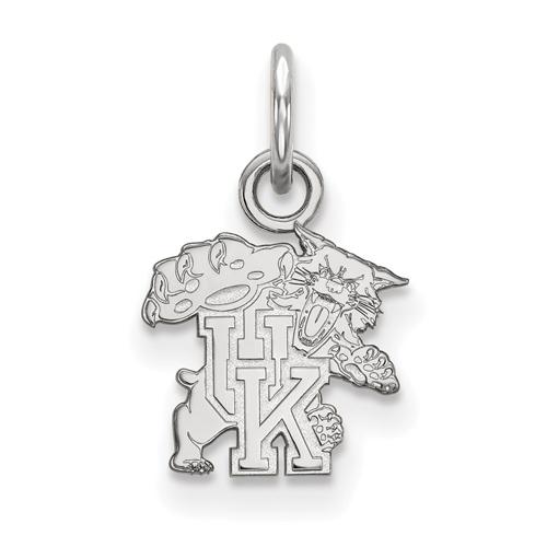 Sterling Silver 3/8in University of Kentucky Wildcat Charm