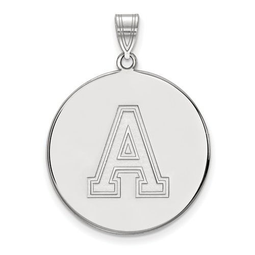 United States Military Academy Disc Pendant 1in Sterling Silver