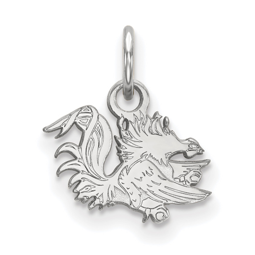 Sterling Silver 3/8in University of South Carolina Gamecock Pendant