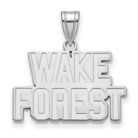 Wake Forest University Logo Pendant 5/8in Sterling Silver