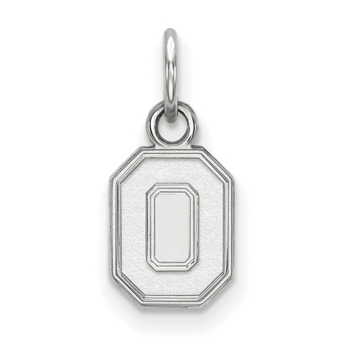 Sterling Silver 3/8in Ohio State University Block O Pendant
