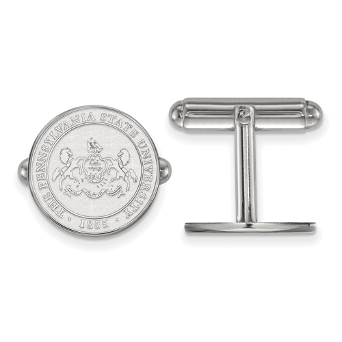 Sterling Silver Penn State University Crest Cuff Links
