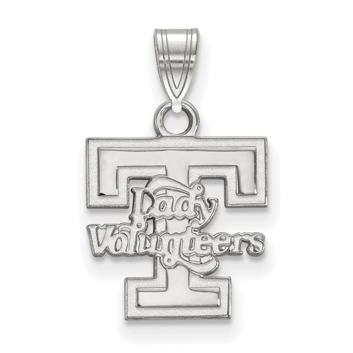 Sterling Silver 1/2in University of Tennessee Lady Volunteers T Pendant