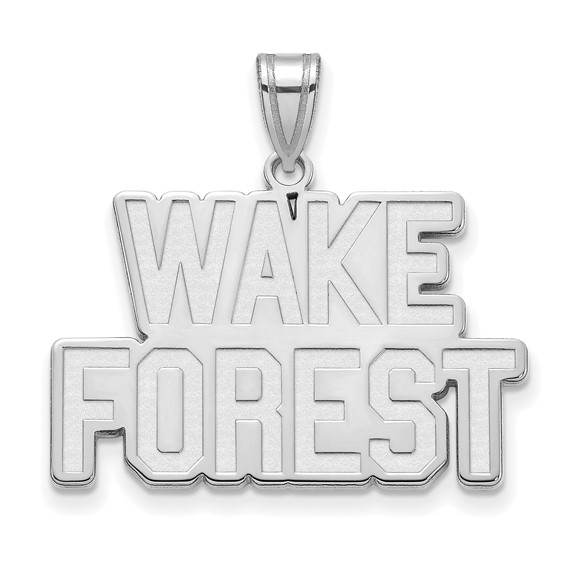Wake Forest University Logo Pendant 3/4in 10k White Gold