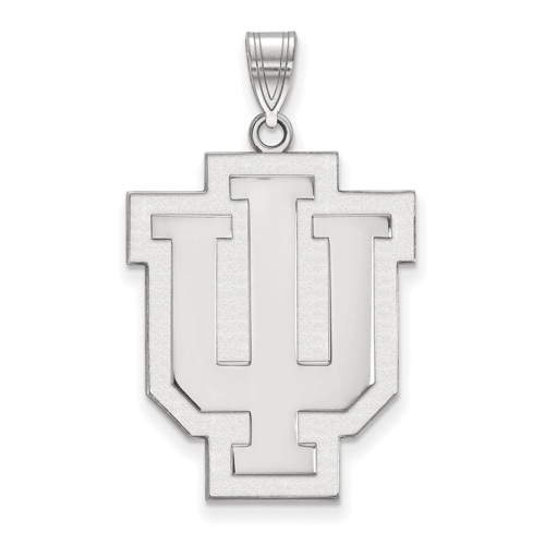 Sterling Silver 1in Indiana University Outline Logo Pendant