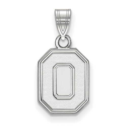 Sterling Silver 1/2in Ohio State University Block O Pendant