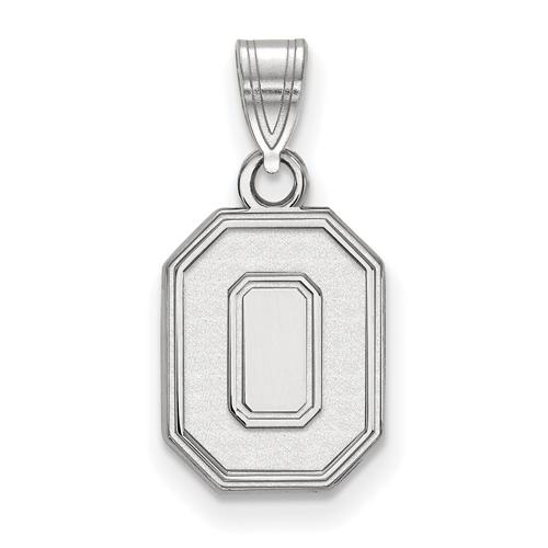 Sterling Silver 1/2in Ohio State University Block O Pendant