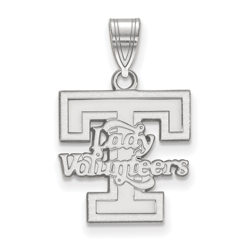 Sterling Silver 5/8in Lady Volunteers T Pendant