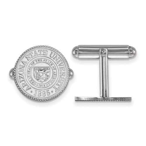 Arizona State University Crest Cuff Links Sterling Silver