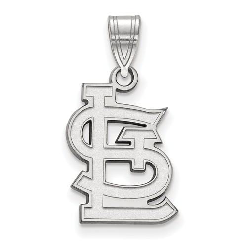 14kt White Gold 5/8in St. Louis Cardinals STL Logo Pendant