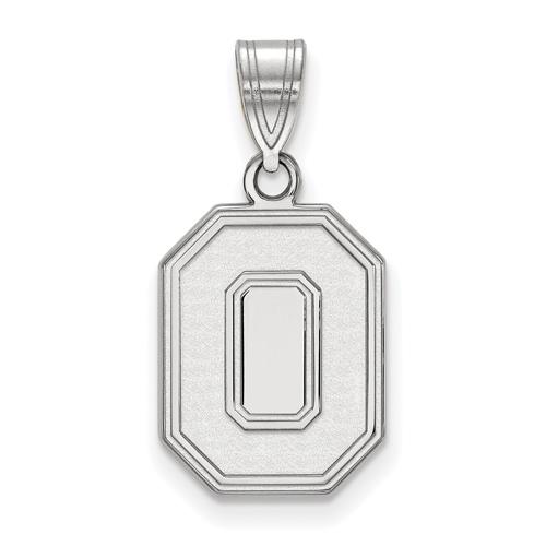 Sterling Silver 5/8in Ohio State University Block O Pendant