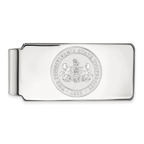 Sterling Silver Penn State University Crest Money Clip