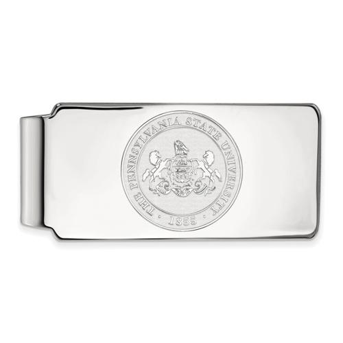 Sterling Silver Penn State University Crest Money Clip