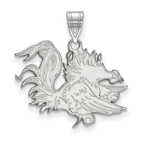 Sterling Silver University of South Carolina Gamecock Pendant
